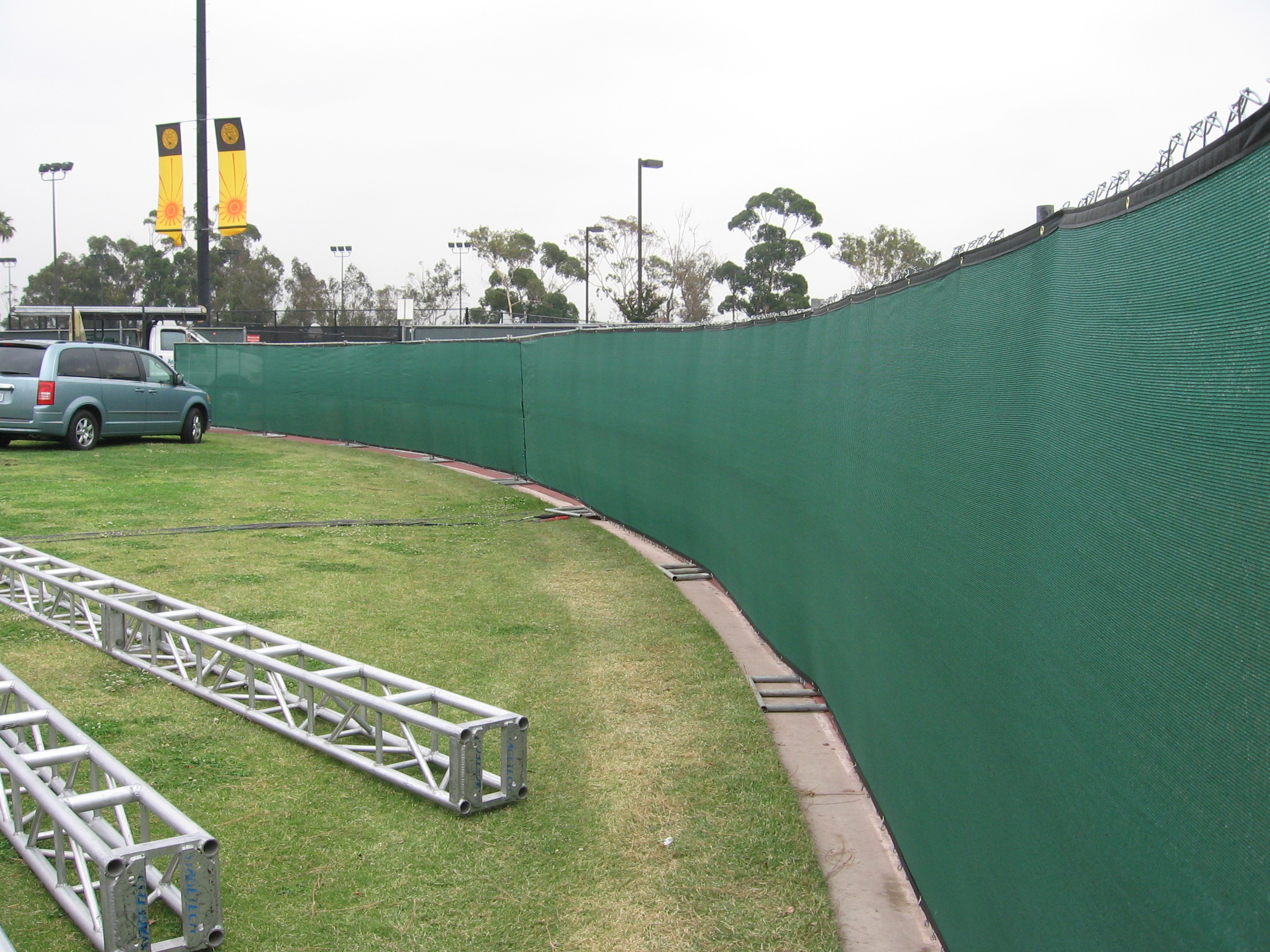 Temporary Fencing - Cal State LA