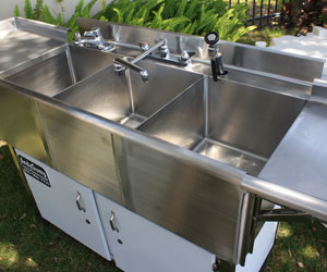 Three Basin Hot and Cold Sink